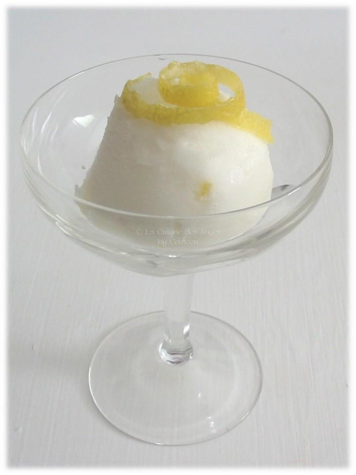 Sorbet, glace au citron et au lait
