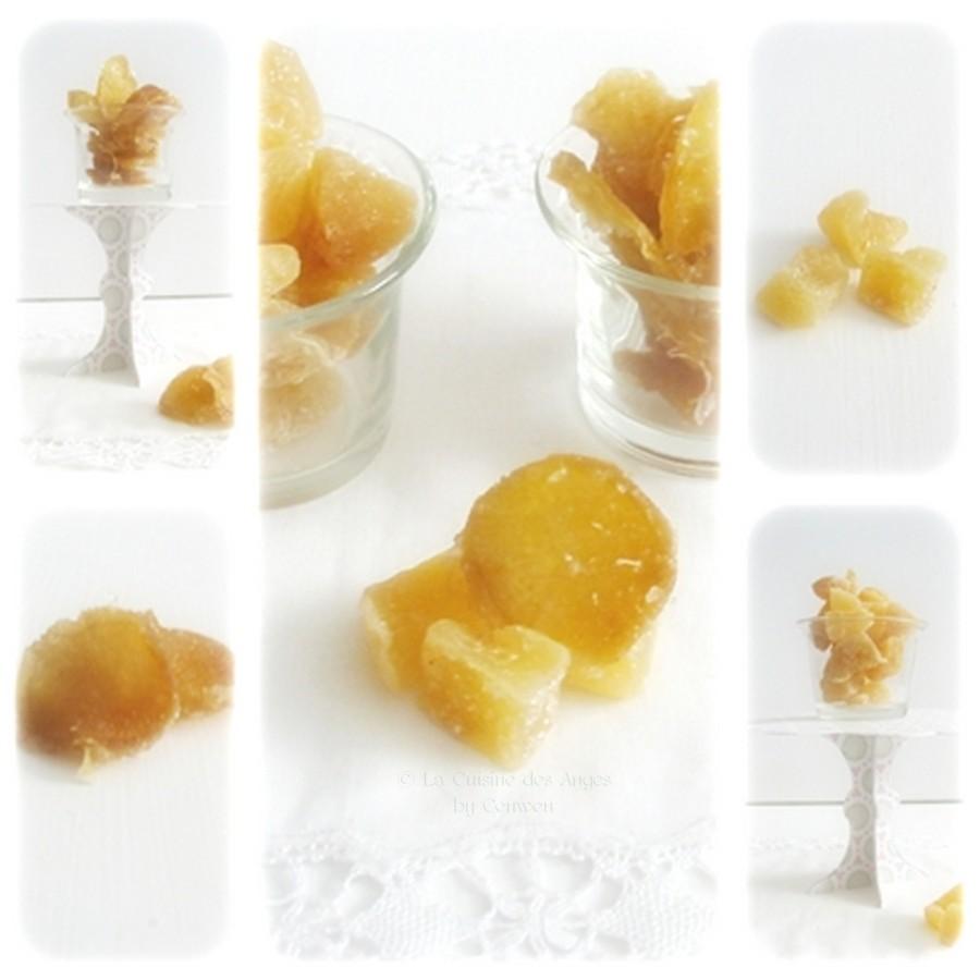Recette de gingembre confit, gingembre et sucre