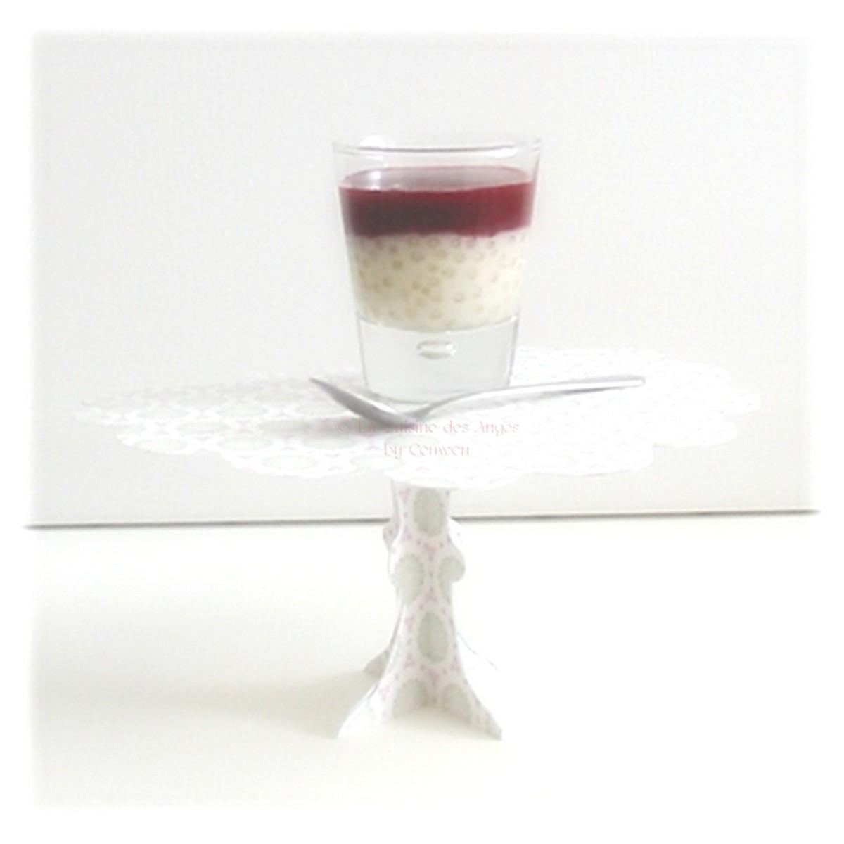 Perles du japon la vanille et coulis de fruits rouges la cuisine des anges - Confiture de nefles du japon ...