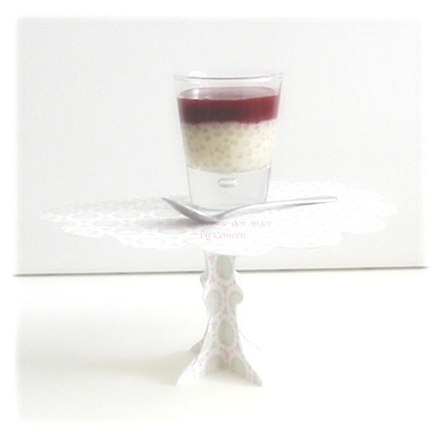 Tapioca ou Perles du Japon à la Vanille et Coulis de Fruits Rouges, recette de dessert, Cuisiner avec un petit budget