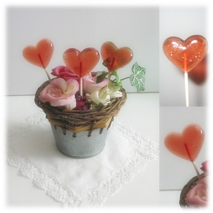 Recette de sucettes à la grenadine ou au sirop de fraise et litchi, recette de bonbons et confiserie