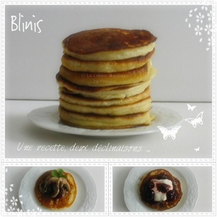 recette de blinis ou petites crêpes épaisses à déguster en version salée ou sucrée