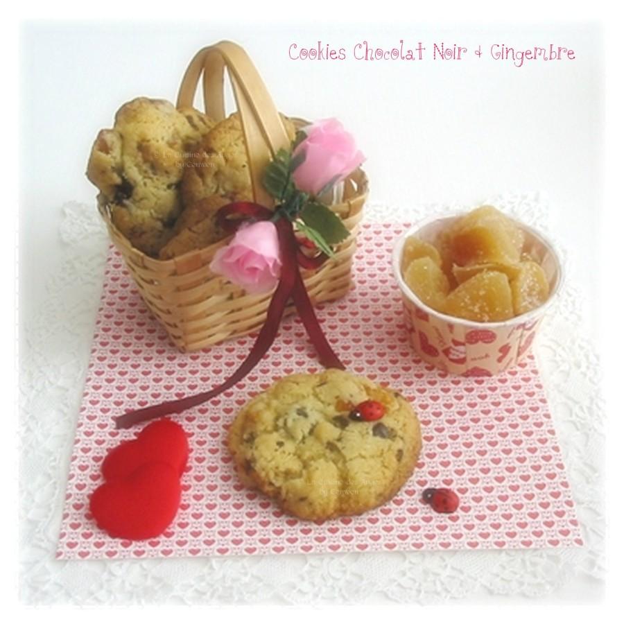 Cookies au Chocolat Noir et GingembreConfit