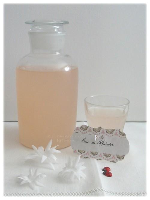 Eau de Rhubarbe, recette de boisson à base de rhubarbe et de sucre