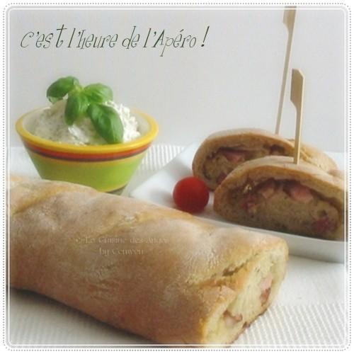 recette de tartinade ou crème à tartiner à base de fromage frais, olives vertes, ail, basilic et huile d'olive.