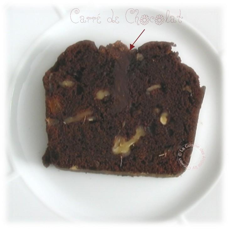 Cake au Chocolat et Gingembre confit