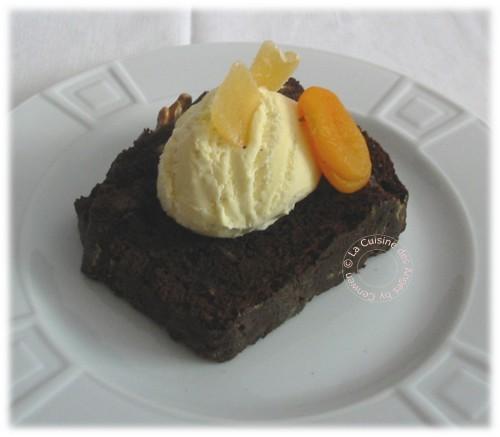 recette de Cake au Chocolat, Gingembre Confit, Abricots Secs et Noix