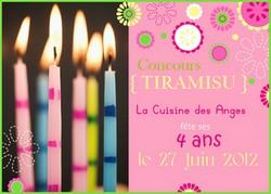 """Logo concours """"La Cuisine des Anges a 4 ans"""""""