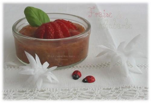 Dessert, Compote Rhubarbe et Fraises à la cannelle