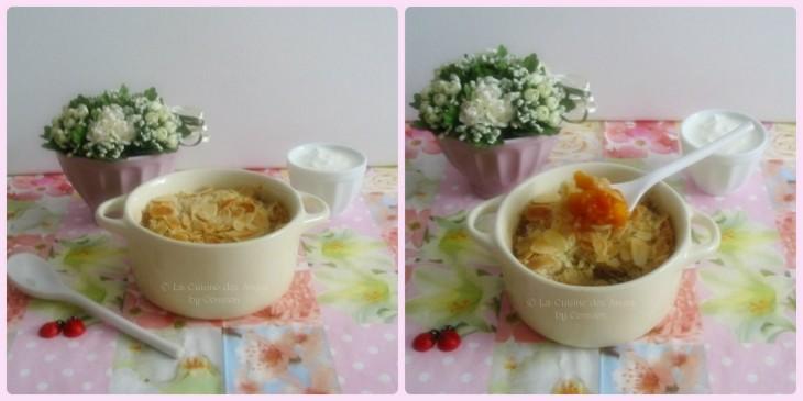 recette de dessert, Crumble aux Abricots, vanille et cannelle
