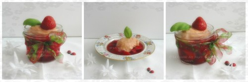 Dessert, sorbet, rhubarbe, fraise, vanille. Cuisiner avec un petit budget