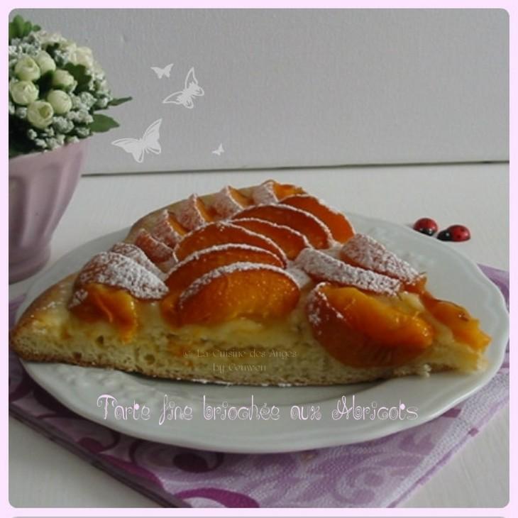 Recette de tarte briochée aux abricots, pâte levée à la vanille, abricots frais