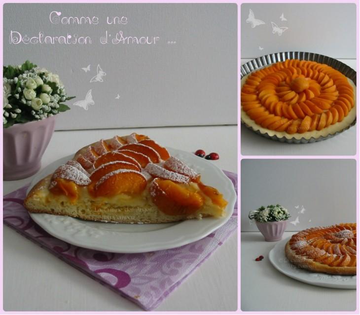 Recette de dessert, tarte fine aux abricots sur pâte briochée levée à la vanille