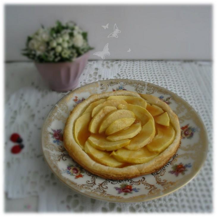 Recette de dessert, Tartelette aux pommes et coulis de caramel au beurre salé