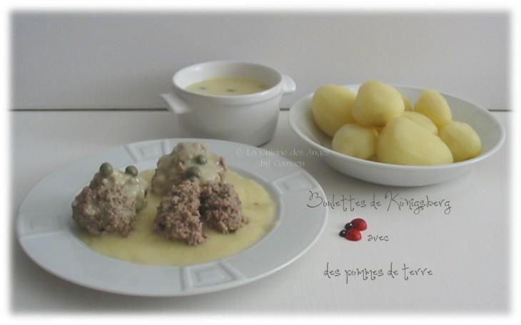 Recette de boulettes, plat à base de viande hachée de boeuf et de porc, sauce citron, moutarde et câpres