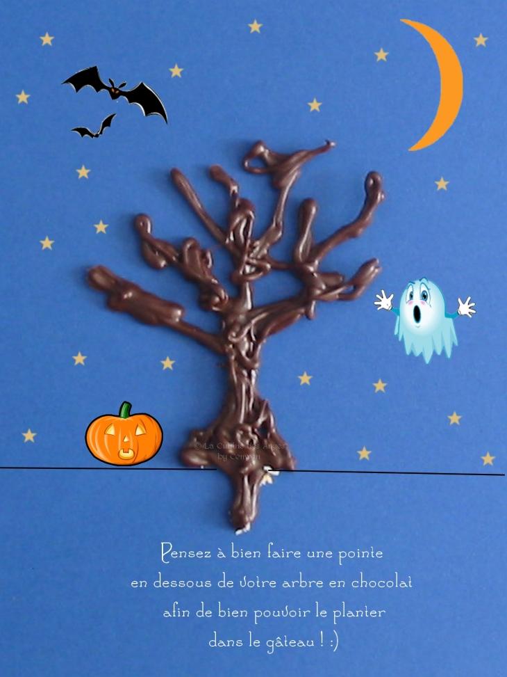 explications pour réaliser un arbre en chocolat