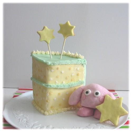 Kirby Cake, Gâteau Kirby en 3 D sur base de gâteau au yaourt, décoré à la crème au beurre et à la pâte à sucre