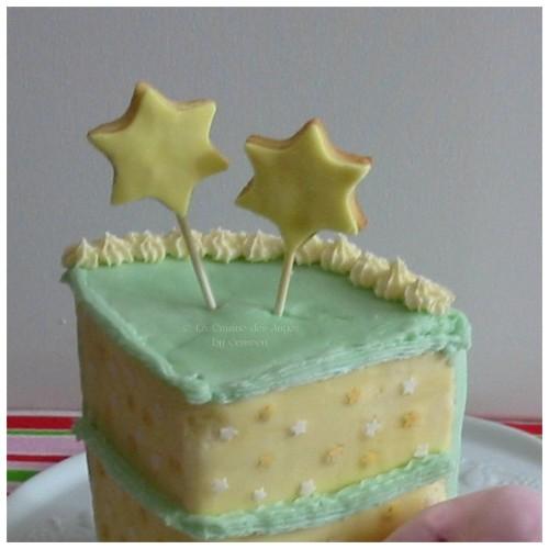Gâteau Kirby, Kirby's Cake, étape de la décoration finale