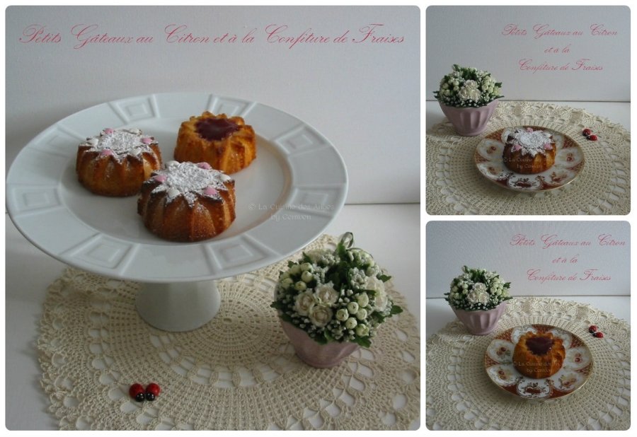Petits Gâteaux au Citron et à la Confiture deFraises