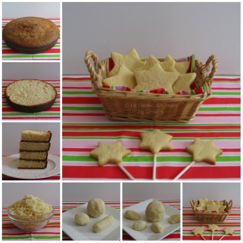 Gâteau Kirby, montage et assemblage de la base en photos
