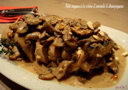 Préparer Noël et Nouvel An avec un petit budget, Filet mignon à la crème d'amandes & aux champignons