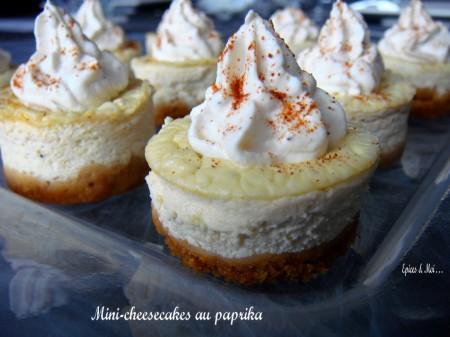Préparer Noël et Nouvel An avec un petit budget, Mini cheese-cakes au Boursin & paprika