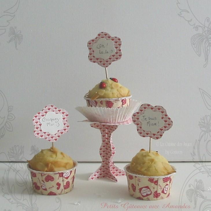 recette de muffins aux amandes, petits gâteaux moelleux aux amandes