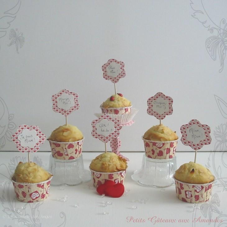 Recette de petits gâteaux, muffins aux amandes