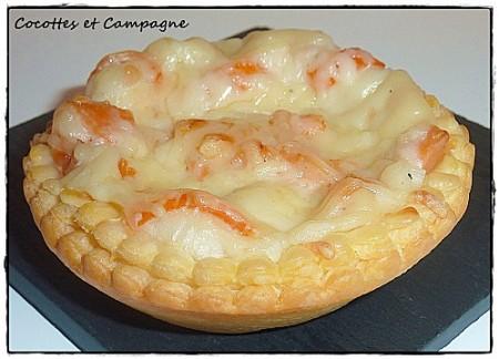 Préparer Noël et Nouvel An avec un petit budget,Tartelettes feuilletées saumon - surimi