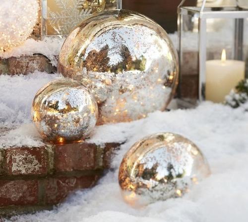 bougie boule et neige