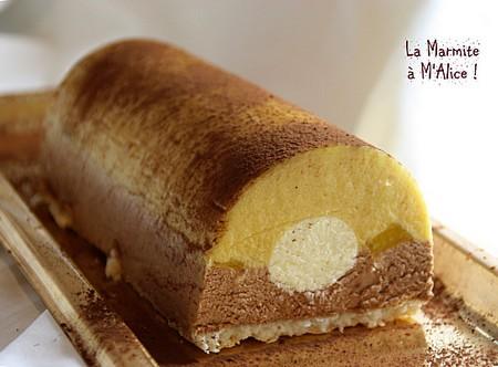 La Cuisine des Anges : Bûche Passion aux Deux Chocolats  du blog La Marmite à M'Alice