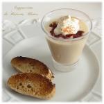 recette d'entrée ou de soupe, Cappuccino de Haricots Blancs à base de haricots blancs, lard croustillant, chantilly salée