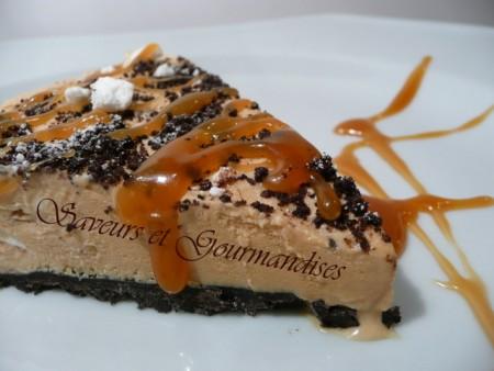 La Cuisine des Anges : Cheesecake Glacé au Caramel Salé  du blog Saveurs et Gourmandises