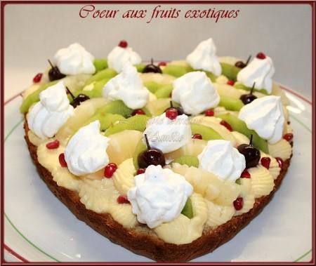 La Cuisine des Anges : Cœur aux fruits exotiques  du blog La Table Lorraine d'Amélie