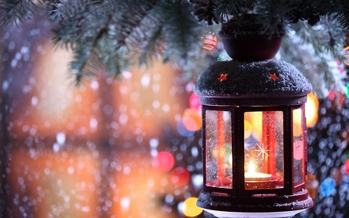 lanterne éclairée