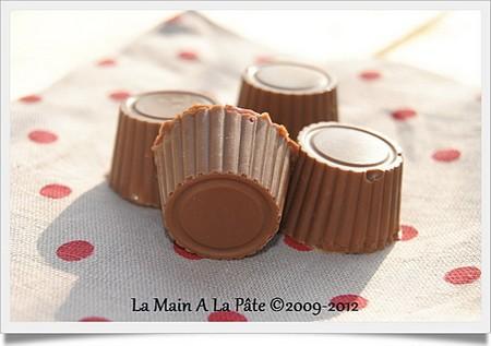 La Cuisine des Anges : Petits chocolats coeur de griottes  du  blog La main à la pâte