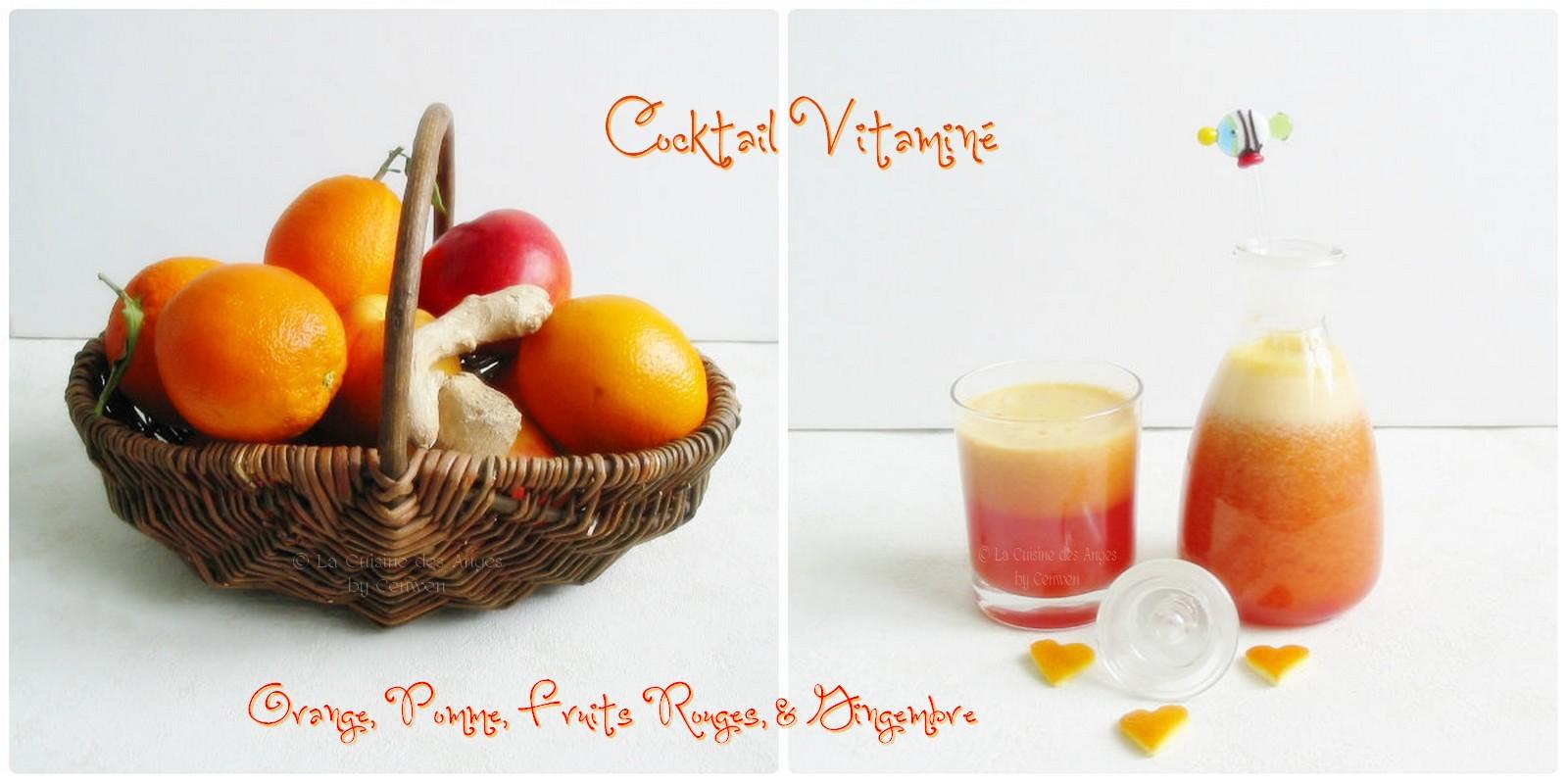 Cocktail vitamin orange pomme fruits rouges et for Cocktail de fruit