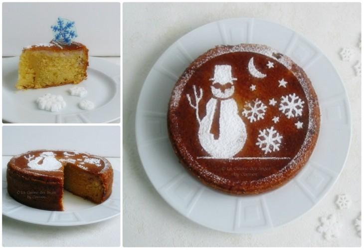 recette de gâteau moelleux avec de la crème fraiche, des bananes et de la canelle