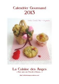 Page de garde du Calendrier Gourmand 2013 du blog La Cuisine des Anges