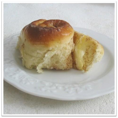 recette des roulés à la cannelle, cinammon rolls, pâte levée sucrée garnie de beurre,sucre et cannelle
