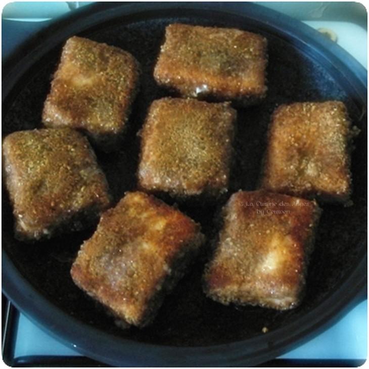 recette de saumon pané aaux noisettes