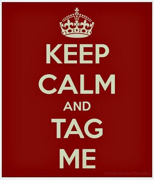 Logo Keep calm and tag me !