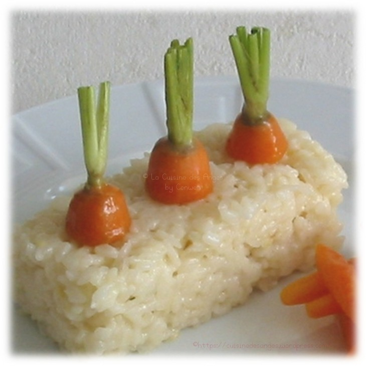 recette de risotto au parmesan et carottes