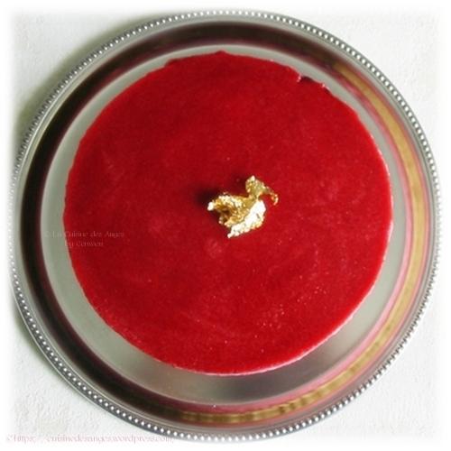 recette de Bavarois aux framboises et fromage blanc à la roseur base de petits beurre Lu
