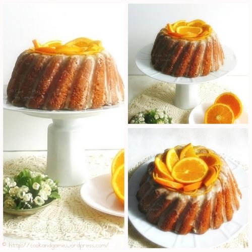 Recette de gpateau au yaourt à l'orange, glaçage au sucre et à l'orange
