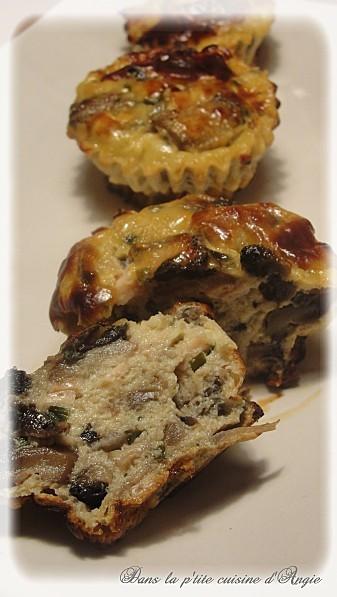 La Cuisine des Anges, recettes créatives pour petits budgets : Petits flans au poulet & champignons  par Angie du joli blog ♥ Dans la Cuisine d'Angie ♥