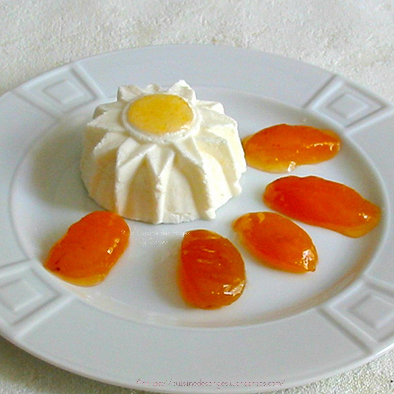 Blanc manger au fromage blanc et confiture d abricots for Manger a la maison