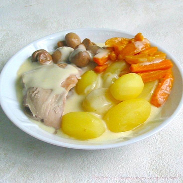 Recette de blanquette de dinde comme une blanquette de veau selon la recette du site ChefSimon.com