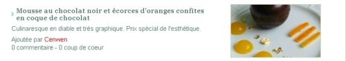 ○ { L'appréciation du Chef Bertrand Simon sur mon travail }○