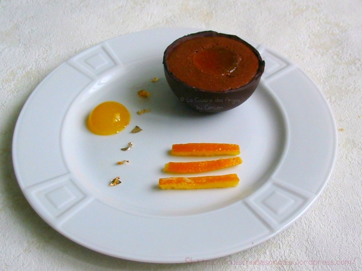 recette de coques en chocolat noir, technique du tablage du chocolat noir